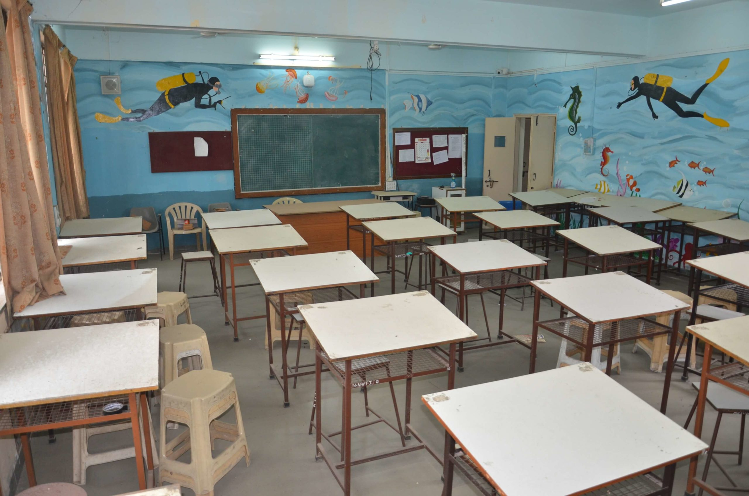 Classrooms of the Fashion Designing Institute